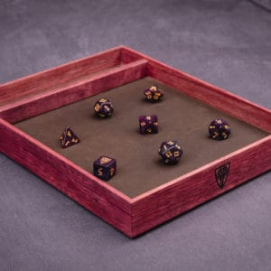 Purpleheart Tabletop Dice Tray