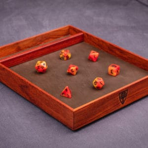 Padauk Tabletop Dice Tray