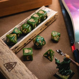 Verdant Wyrmwood RPG Dice Set
