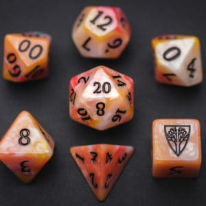 Koi Wyrmwood RPG Dice Set