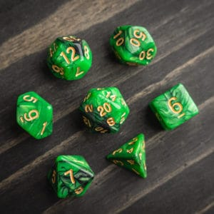 Nice Dice: Acrylic/Resin – Dragon's Demise